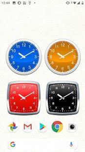Androidアプリ「シンプルなアナログ時計ウィジェット無料」のスクリーンショット 3枚目
