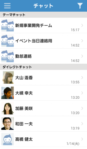 Androidアプリ「サイボウズLive for Android」のスクリーンショット 3枚目