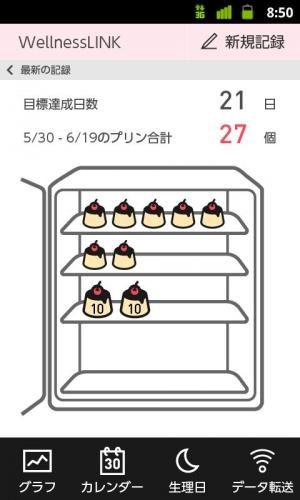 Androidアプリ「ゆるぴかダイエットアプリ」のスクリーンショット 2枚目