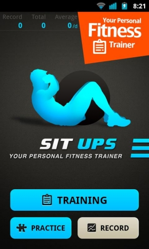 Androidアプリ「Sit Ups Workout」のスクリーンショット 1枚目