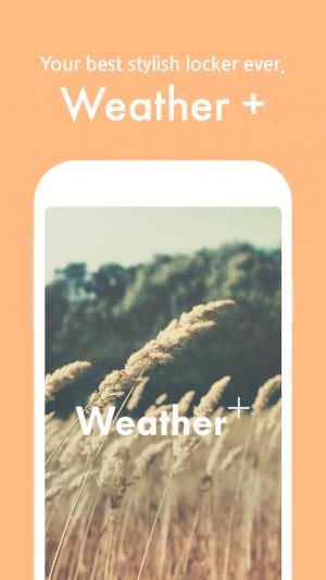 Androidアプリ「Weather +」のスクリーンショット 1枚目
