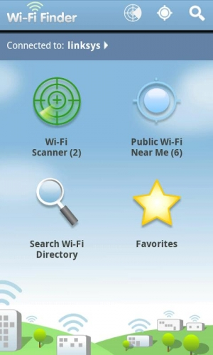 Androidアプリ「WiFi Finder」のスクリーンショット 1枚目