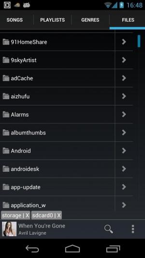 Androidアプリ「音楽プレーヤー」のスクリーンショット 3枚目