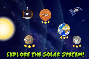 Androidアプリ「Angry Birds Space」のスクリーンショット 1枚目