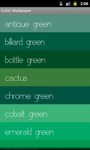 Androidアプリ「色の壁紙」のスクリーンショット 2枚目