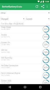 Androidアプリ「BetterBatteryStats」のスクリーンショット 1枚目
