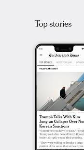 Androidアプリ「NYTimes - Latest News」のスクリーンショット 1枚目