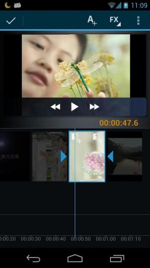 Androidアプリ「ビデオメーカームービーエディタ」のスクリーンショット 3枚目