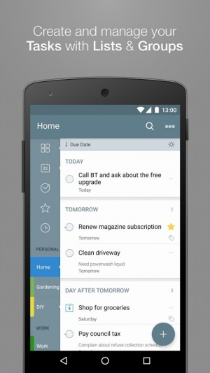 Androidアプリ「2Do - Reminders & To-do List」のスクリーンショット 1枚目
