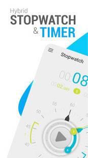Androidアプリ「ストップウォッチタイマー」のスクリーンショット 1枚目