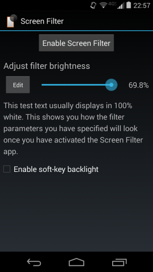 Androidアプリ「Screen Filter」のスクリーンショット 3枚目