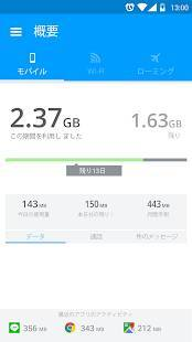 Androidアプリ「My Data Manager」のスクリーンショット 1枚目