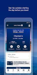 Androidアプリ「United Airlines」のスクリーンショット 1枚目