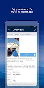 Androidアプリ「United Airlines」のスクリーンショット 4枚目
