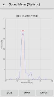 Androidアプリ「騒音計、地震計:Sound Meter Pro」のスクリーンショット 3枚目