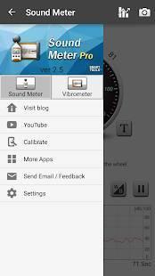 Androidアプリ「騒音計、地震計:Sound Meter Pro」のスクリーンショット 4枚目