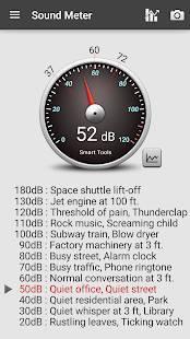 Androidアプリ「騒音計、地震計:Sound Meter Pro」のスクリーンショット 1枚目