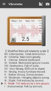 Androidアプリ「騒音計、地震計:Sound Meter Pro」のスクリーンショット 5枚目