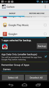 Androidアプリ「Helium - App Sync and Backup」のスクリーンショット 2枚目