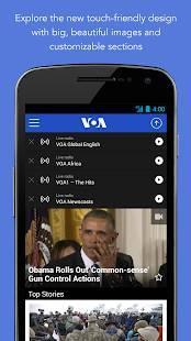 Androidアプリ「VOA News」のスクリーンショット 1枚目