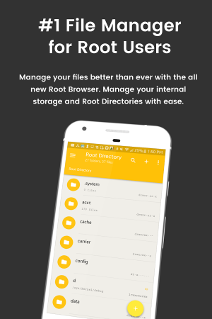 Androidアプリ「File Explorer Root Browser」のスクリーンショット 1枚目