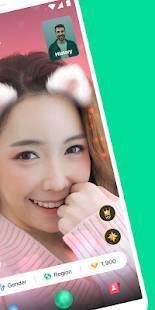 Androidアプリ「Azar-ビデオ チャット、友達検索」のスクリーンショット 2枚目