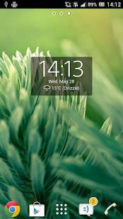 Androidアプリ「Digital Clock Widget Xperia」のスクリーンショット 4枚目