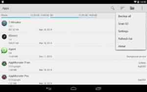 Androidアプリ「AppMonster Free Backup Restore」のスクリーンショット 4枚目