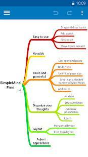 Androidアプリ「SimpleMind Free - Intuitive Mind Mapping」のスクリーンショット 2枚目