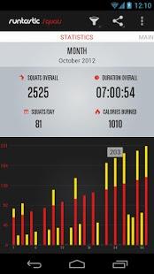 Androidアプリ「Runtastic Squats スクワット回数カウント」のスクリーンショット 2枚目
