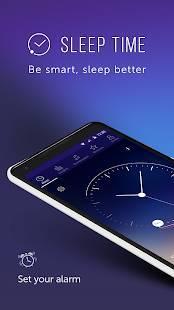 Androidアプリ「睡眠時間 : 睡眠サイクルスマートアラームクロック、監視分析」のスクリーンショット 1枚目