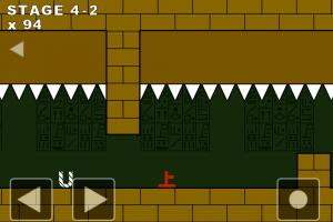 Androidアプリ「上原の冒険+ 〜激ムズトラップアクションゲーム〜」のスクリーンショット 4枚目
