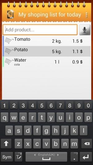 Androidアプリ「買い物リスト」のスクリーンショット 4枚目