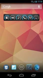 Androidアプリ「Slider Widget - 音量」のスクリーンショット 1枚目