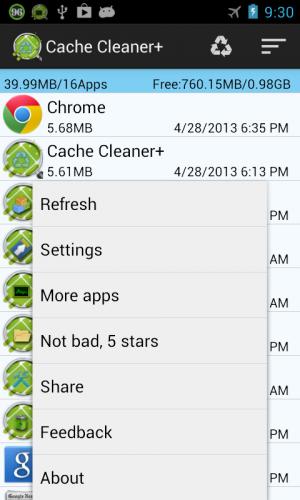 Androidアプリ「キャッシュクリーナー」のスクリーンショット 1枚目