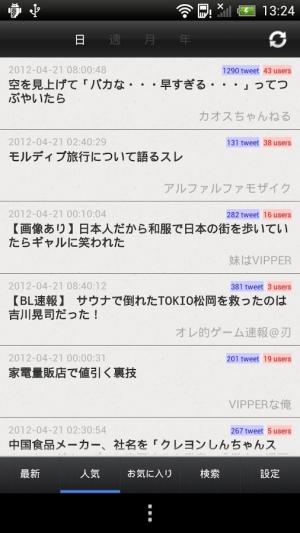 Androidアプリ「2chまとめナビ」のスクリーンショット 2枚目