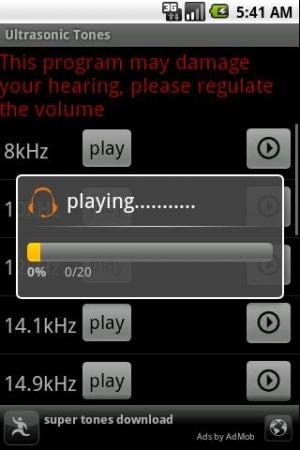 Androidアプリ「聴力テスト」のスクリーンショット 3枚目