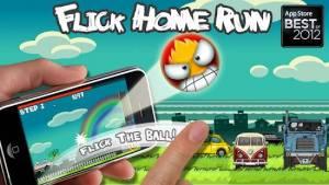 Androidアプリ「Flick Home Run !」のスクリーンショット 1枚目