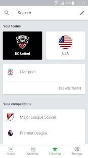 Androidアプリ「Onefootball - Soccer Scores」のスクリーンショット 5枚目