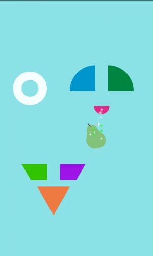 Androidアプリ「さわってニコニコ!いろんなカタチ(幼児向け)」のスクリーンショット 2枚目