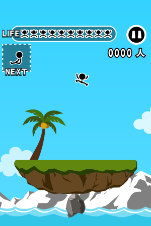 Androidアプリ「グラグラアイランド」のスクリーンショット 1枚目