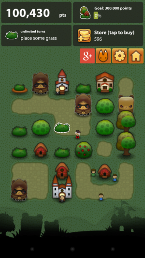 Androidアプリ「Triple Town」のスクリーンショット 4枚目