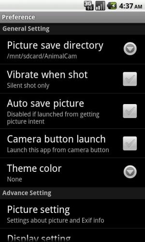 Androidアプリ「AnimalCam」のスクリーンショット 4枚目