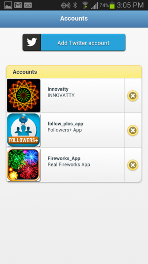 Androidアプリ「Followers+ for Twitter」のスクリーンショット 4枚目