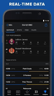 Androidアプリ「theScore: Live Sports Scores, News, Stats & Videos」のスクリーンショット 4枚目