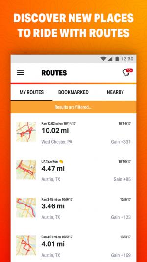 Androidアプリ「MapMyRide GPSサイクリング」のスクリーンショット 4枚目