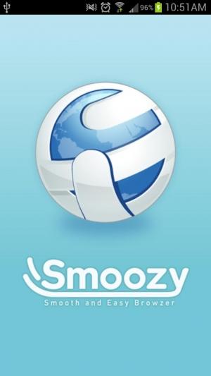 Androidアプリ「Smoozy ウェブブラウザ」のスクリーンショット 1枚目