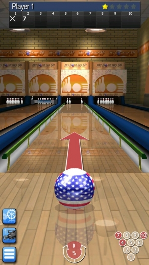 Androidアプリ「My Bowling 3D」のスクリーンショット 1枚目