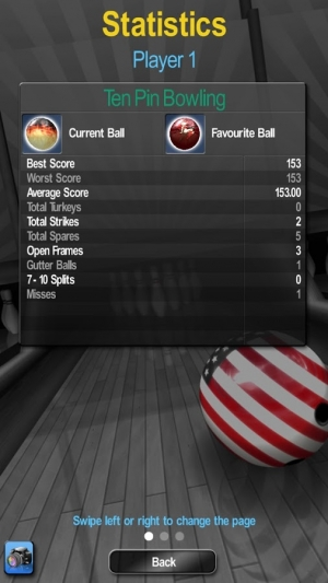 Androidアプリ「My Bowling 3D」のスクリーンショット 5枚目