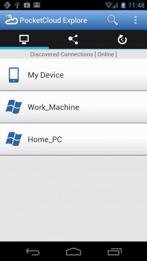 Androidアプリ「PocketCloud Explore」のスクリーンショット 1枚目